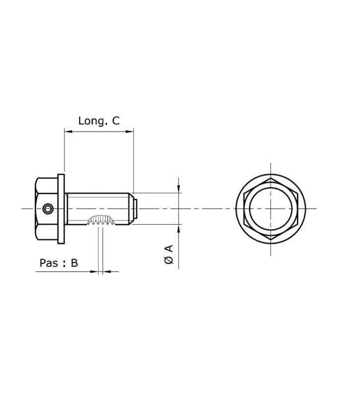 bouchon de vidange aimant m14 x 1 25 x 13 5 mm tecnium l35 644. Black Bedroom Furniture Sets. Home Design Ideas