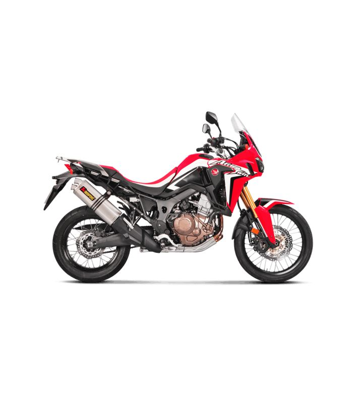 silencieux akrapovic pour honda africa twin crf1000l 2016. Black Bedroom Furniture Sets. Home Design Ideas