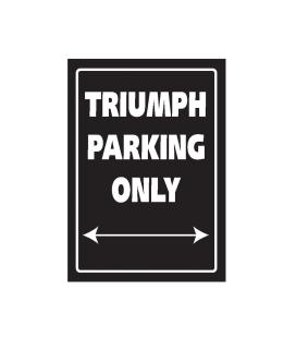 Plaque garage Triumph - Bike It SIG035