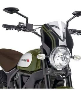 Bulle Ducati Scrambler - Puig Retrovision Noir