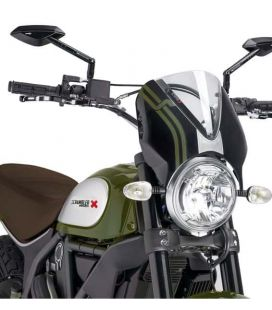 BULLE DUCATI SCRAMBLER FULL THROTTLE / Puig carénage noir