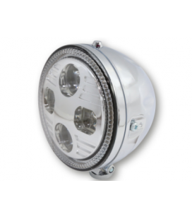 Phare Highsider Atlanta Chrome - montage bas