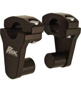 Risers de guidon pivotants pour pontets de 22 mm - Black