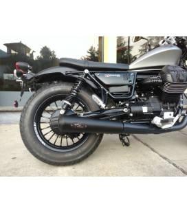 Silencieux Moto-Guzzi V9 Bobber - Agostini Short Black