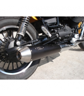 Silencieux Moto-Guzzi V9 Roamer - Agostini Conique Black
