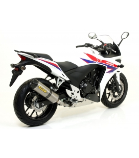 Silencieux Honda CBR500R 13-15 / Arrow Race Tech embout carbone