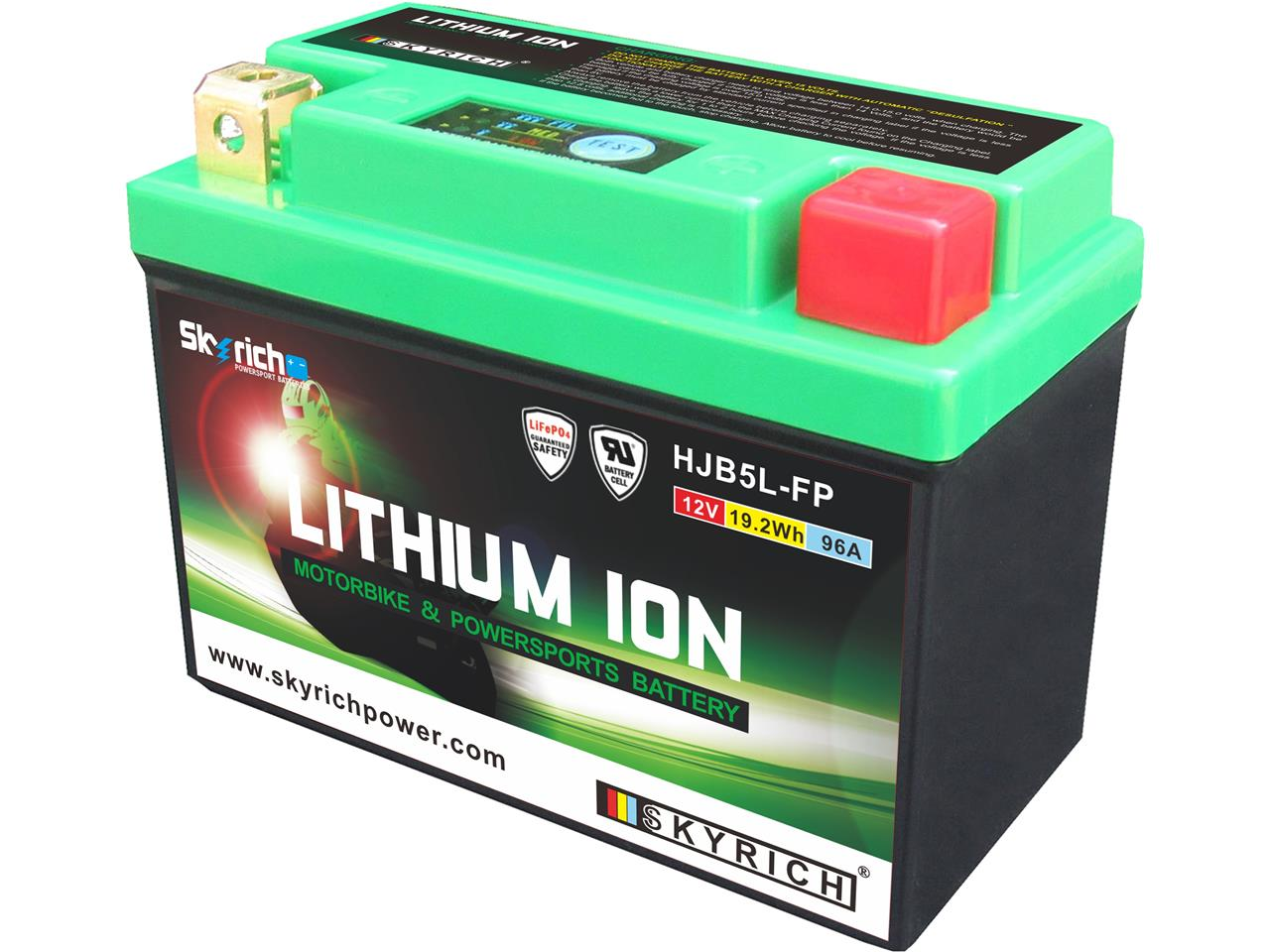 MOTO Lithium Batterie hjtx5l-fp pour PIAGGIO LIBERTY 50 2 t 1998-2002