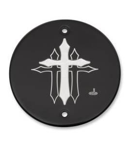 Cache courroie Indian Scout - Cross Black
