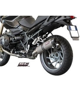 Silencieux BMW R1200R 11-14 / SC Project Ovale Titane