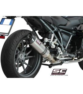 Silencieux BMW R1200RS 15-16 / SC Project Ovale Titane