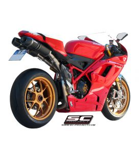 Silencieux Ducati 1098R - SC Project Ovale Noir