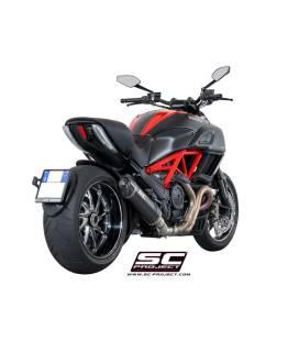 Silencieux Ducati Diavel - SC Project Ovale Noir
