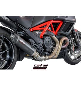 Silencieux Ducati Diavel - SC Project Ovale Carbone