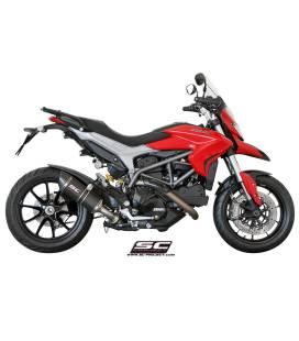 Silencieux Ducati Hypermotard 821 13-16 / SC Project Bas Noir