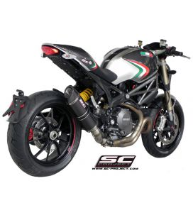 Silencieux Ducati Monster 1100 EVO - SC Project Carbone