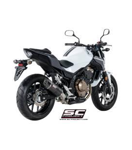 Silencieux Honda CBR500R 17-18 / SC Project Oval Carbone