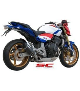Silencieux Honda CB600F Hornet - SC Project Oval Noir