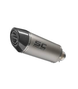 Silencieux Kawasaki ER6F 05-11 / SC Project Oval Titane