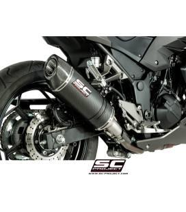 Silencieux Kawasaki Z300 - SC Project Oval Carbone