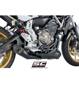 Ligne complète Yamaha MT-07 13-16 / SC Project S1 Noir