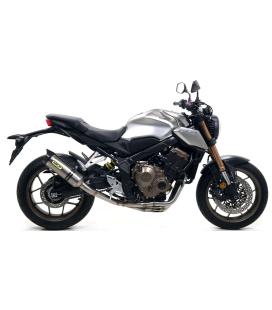 Ligne compléte Honda CB650R-CBR650R / Arrow Thunder Alu embout carbone