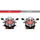 Ailerons de carénages Aprilia RSV4RF - Puig 2334N