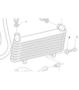 Radiateur Huile Ducati Hypermotard 1100 EVO