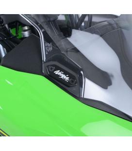 Caches orifices rétroviseur Kawasaki Ninja 125 - RG Racing MBP0014BK