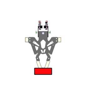 Support de plaque Kawasaki Ninja 125 - V-Parts C8-SPK019