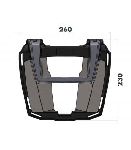 Support top-case BMW F800GS Adventure - Hepco-Becker Easyrack