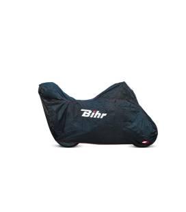 Housse moto avec bulle haute et top-case Bihr H2O