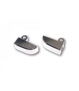 Supports de clignotants Aluminium Highsider M8 Noir ou Chromé