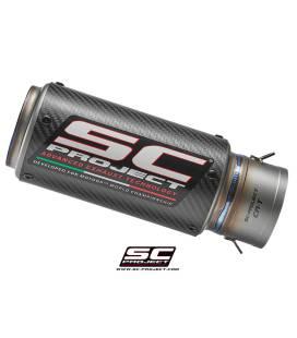 Silencieux Universel CR-T en Carbone Entrée 60mm Sortie 65mm - SC Project - MFL-60-36C