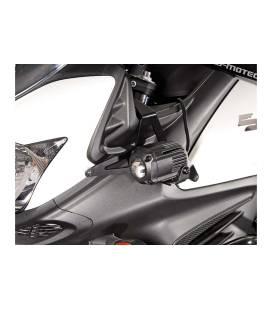 SW MOTECH Supports pour feux additionnels Noir. Suzuki DL650 V-Strom (11-16) / XT (15-16).