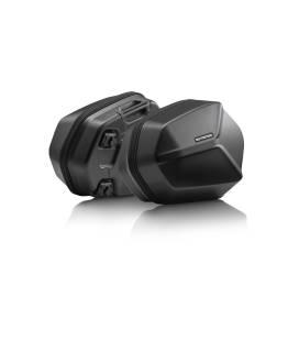 Set de valises latérales AERO ABS 2x 25 l. Plastique rigide ABS. Noir.