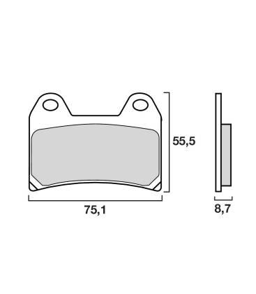 plaquette frein avant brembo 07bb19sa. Black Bedroom Furniture Sets. Home Design Ideas