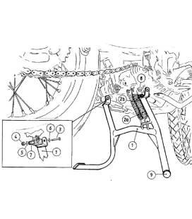 Béquille centrale BMW F650GS Dakar - Hepco-Becker 505628 00 01