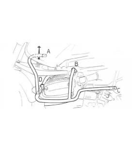 Pare cylindre BMW R850GS / R1100GS - Hepco-Becker Chrome