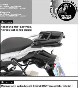 Support top-case OEM BMW S1000XR 2015-2019 / Hepco-Becker Alurack