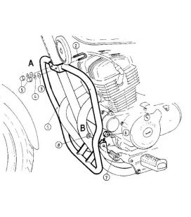 Protection moteur Honda 125 Rebel - Hepco-Becker 501112 00 02