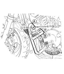 Protections moteur Honda CB900 Hornet - Hepco-Becker 501126 00 01