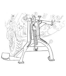 Béquille centrale Honda CBF500 - Hepco-Becker 505937 00 01