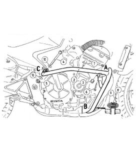 Protection moteur Honda CBF600 2004-2007 / Hepco-Becker