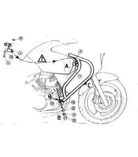 Protection moteur Varadero 125 2001-2006 / Hepco 501124 00 01