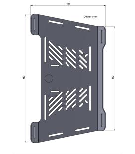 Extension porte bagage XL600V Transalp 87-00 / Hepco 800171 00 09
