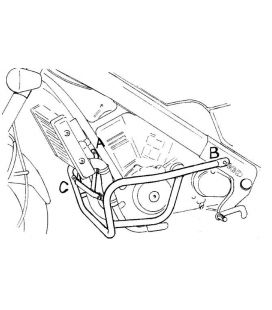 Protection moteur Honda NTV650 - Hepco-Becker 501109 00 01