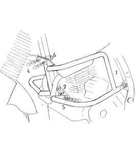 Protection moteur NX650 Dominator (95-02) - Hepco 501113 00 01