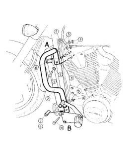 Protection moteur Honda VTX 1800 - Hepco-Becker 501123 00 02