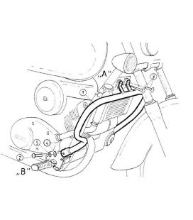 Protection moteur VT 125 C2 Shadow - Hepco-Becker 501120 00 02