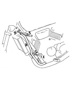 Protection moteur Honda VF 750 C - Hepco-Becker 501107 00 02